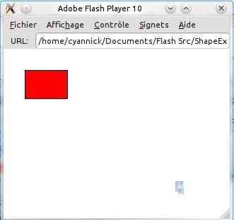 Capture d'écran de l'exemple sur l'objet Shape