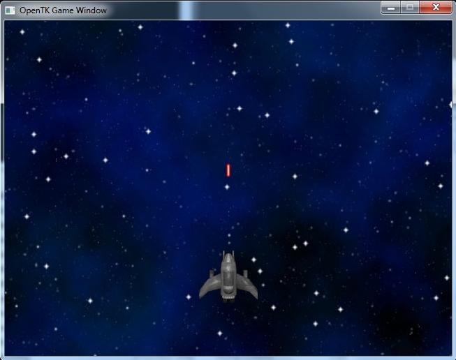 Le vaisseau tire un nouveau laser