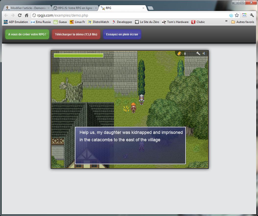 RPG JS : RPG Maker dans votre navigateur