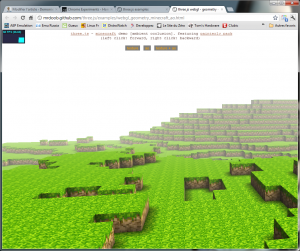 Un style Minecraft via WebGL