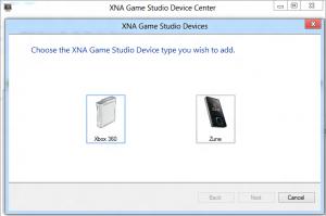 Logiciel XNA Game Device