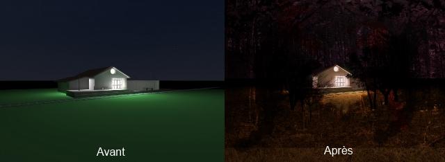 Première capture / capture modifiée + texture
