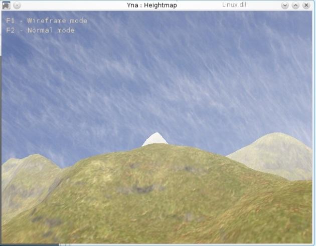 Une heightmap avec du brouillard