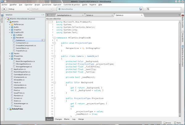 MonoDevelop 4 sur KDE