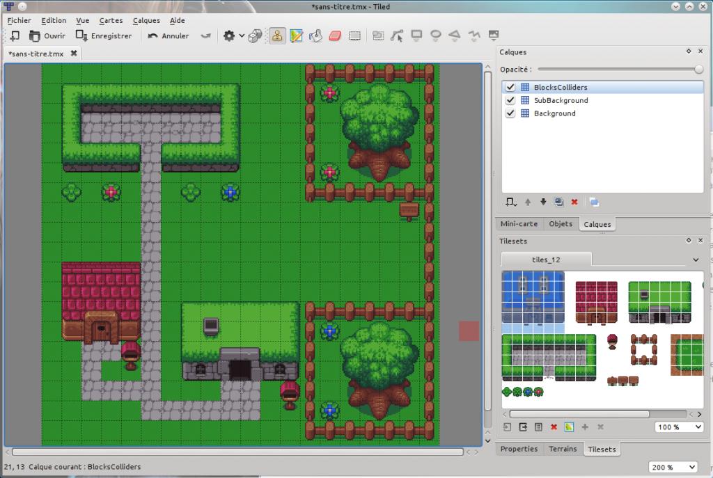 Design de niveau avec Tiled