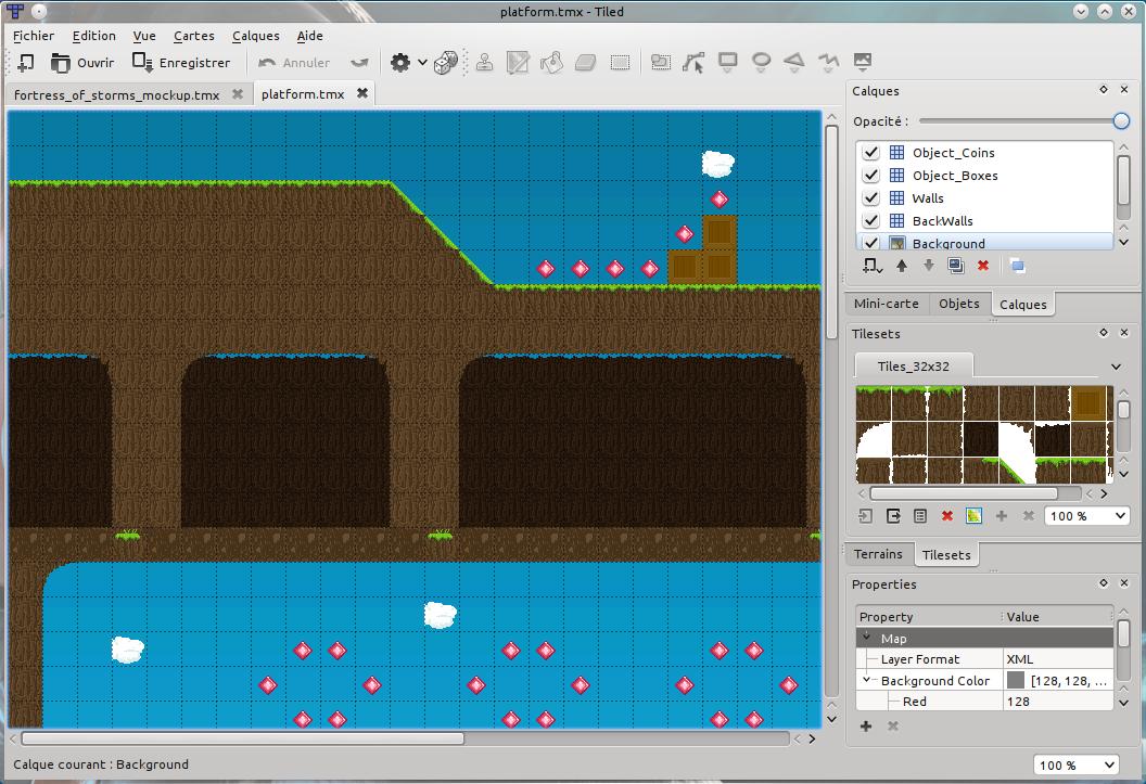 Créer une map avec Tiled !