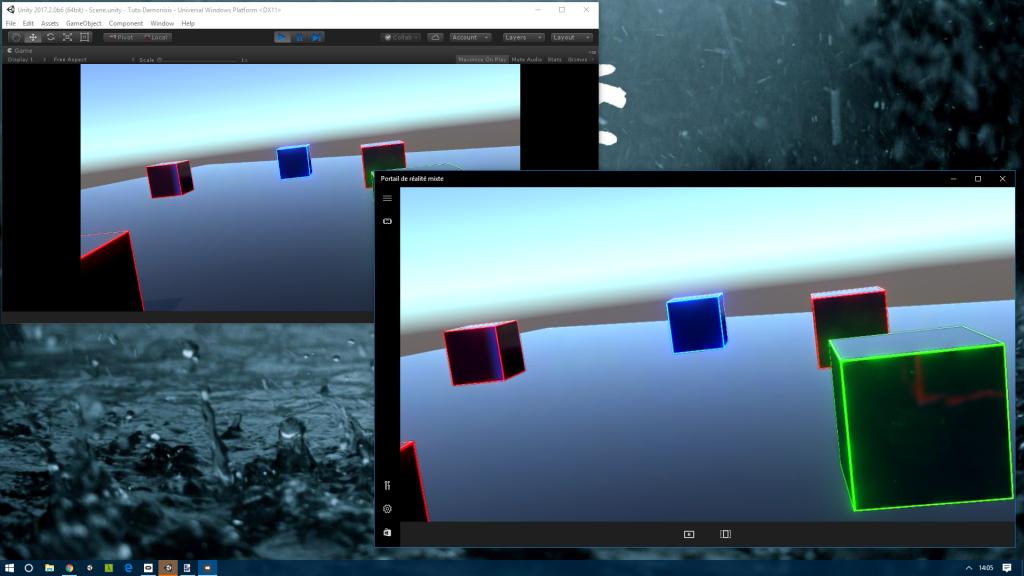 Surprise ! La preview depuis Unity est aussi dans le simulateur
