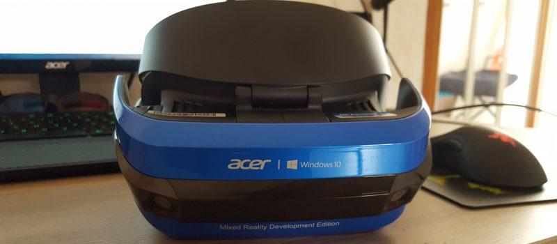 Test du casque Acer Mixed Reality et de son tracking inside/out intégré