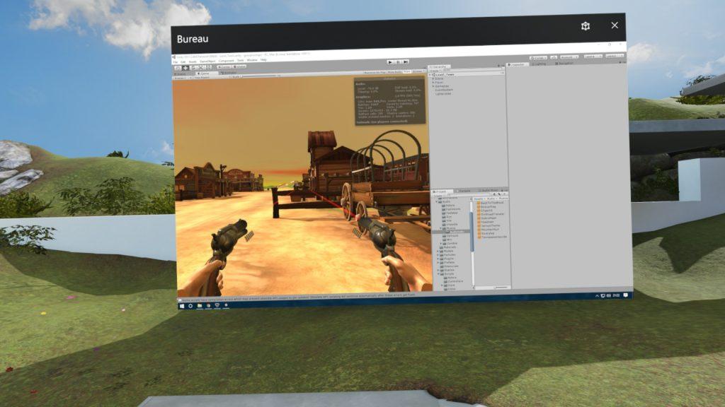 Et oui on peut aussi travailler sur Unity en VR :)