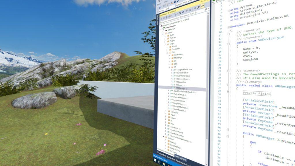 Visual Studio en réalité virtuelle
