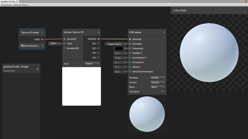 Votre premier shader simple avec ShaderGraph