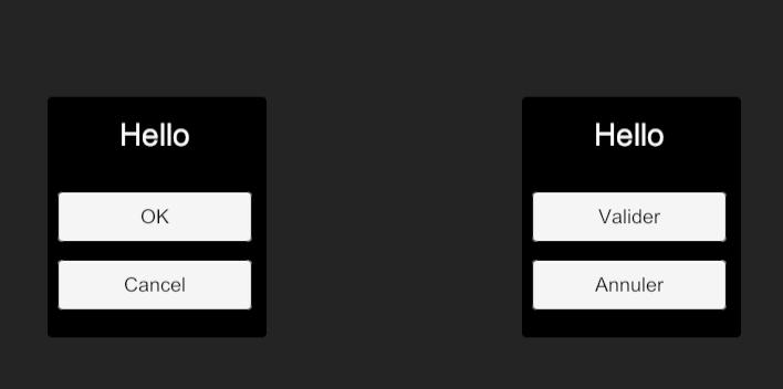 Résultat d'interface graphique traduite