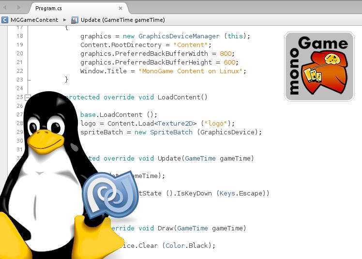 Utilisation du plugin MonoGame pour MonoDevelop 4.x sous Linux